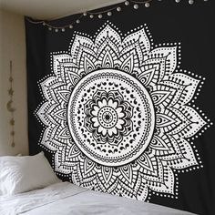 TSV Mandala Tapestry Indian Wall Hanging Decor Bohemian Hippie Queen Bedspread Throw #indianhomedecor