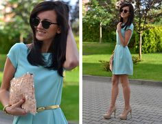 Mint dress (by Daisyline .) http://lookbook.nu/look/3980370-Mint-dress