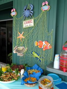 Under the Sea Party food display #shescrafty