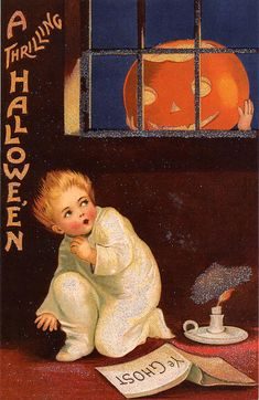 Vintage Halloween Cards At Bill Casselmans Canadian Word Of The Day Billcasselman