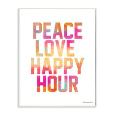 Stupell lulusimonSTUDIO 'Peace, Love, Happy Hour' Glam Wall Plaque Art