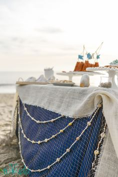 Nautical Table Setting With Tablecloth And Glass Floats. | Nautical Decor |  Pinterest | Nautical Table, Glass And Coastal Style
