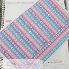 Hearts Checklist Flags-Pinks-Aqua-Purple Set by PrettylilPlanners