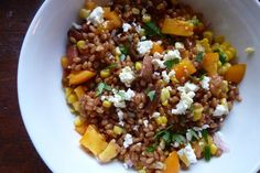 cook a big batch of whole grain (barley, wheatberries, quinoa) and have on hand to mix with different add-ins for various side dishes through the week