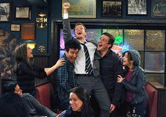 How I Met Your Mother: Ted Mosby, Marshall Eriksen, Lily Aldrin, Robin Shrebatsky and Barney -wait for it- Stinson Barney Y Robin, Ted And Robin, How I Met Your Mother, I Meet You, Told You So, Marshall Eriksen, Sherlock, Ted Mosby, Mother Photos