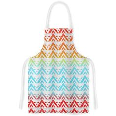 East Urban Home Antilops Pattern by Freric Levy-Hadida Multicolor Chevron Artistic Apron