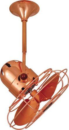 Bianca Directional Fan, Polished Copper | Metal Blades, Polished Copper | Decorative Metal Blade Guard