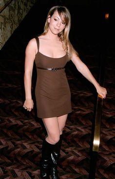 Mariah Carey brown mini-dress - Fashion flashback! 1996 MTV Video Music Awards