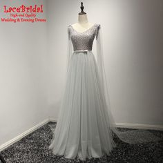 Find More Evening Dresses Information about Eleagnt Gray A Line V Neck Beaded Lace Evening Dresses 2016 Fashion Long Birthday Guest Party Prom Gowns robe de soiree TE193,High Quality robe de soiree,China evening dress 2016 Suppliers, Cheap lace evening dresses from do dower LaceBridal Store on Aliexpress.com