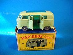 Volkswagen Camping Car 34 Lesney Matchbox w Box England Volkswagon VW Camper   eBay