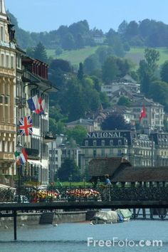 Lucerne, Switzerland.  Been here, a beautiful city.