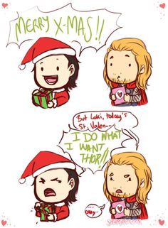 Loki and Thor... This is cute, but it makes me sad, poor Thor... but Loki's Entertaining all the same :D