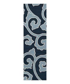 Take a look at this Slate Blue Mezzo Rug by Décor 140 on #zulily today!