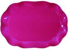 Vassoio rettangolare Bouganville con bordo rialzato in cartoncino rosa scuro, cm.30x45. Per buffet o piatto da portata. Disponibile da C&C Creations Store