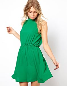 Love Skater Dress With Polo Neck on shopstyle.com