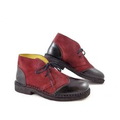 Fly London Capi Brogue Detail Ankle Boots in Black/Wine | rubyshoesday