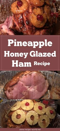 Pineapple Honey Glazed Ham Recipe Pineapple Honey Glazed Ham Recipe<br> During Thanksgiving and Christmas holidays, or other festive occasions, we all want a really impressive spread. Skip the expensive pre-made glazed ham that lacks flavor. Pinapple Ham, Pineapple Honey Glazed Ham, Baked Ham With Pineapple, Honey Ham Glaze, Easter Ham Recipes Pineapple, Honey Glazed Gammon, Best Ham Glaze, Honey Ham Recipe, Best Ham Recipe