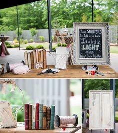 Rustic modern wedding reception decor at Atlanta wedding.  NO TRAVEL FEES ANYWHERE IN THE US!