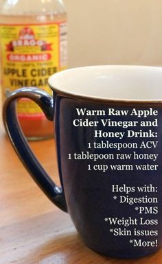 Apple Cider Vinegar and Raw Honey: This Warm Drink has Amazing Health Benefits! - Health, Home, & Happiness Apple Cider Vinegar and Raw Honey: This Warm Drink has Amazing Health Benefits! Apple Cider Vinegar Remedies, Raw Apple Cider Vinegar, Vinegar And Honey, Raw Vinegar, Apple Cider And Honey, Vinegar Diet, Benefits Of Cider Vinegar, Healthy Smoothie, Healthy Drinks