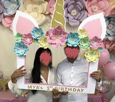 Unicorn Theme Photo Booth Frame CUSTOM Photo Booth Props