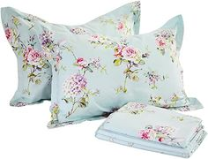 Amazon.com : french country bedrooms colors Floral Bedding, Cotton Bedding, Dorm Bedding, Chic Bedding, Shabby Chic Sheets, French Country Bedding, Country Bedrooms, French Bedroom Decor, Luxury Bed Sheets