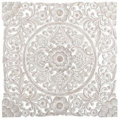 Pier 1 - Love this piece and think it will look great on our screened porch: White Carved Wall Decor Spring Home, Autumn Home, White Wall Paneling, Style Oriental, Fractal, White Home Decor, Unique Wall Art, Filigree Design, Wood Wall Decor