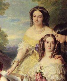 Nathalie de Ségur (1827-1910), baronne de Malaret (Yellow)from Winterhalter's 1855 group portrait | Grand Ladies | gogm