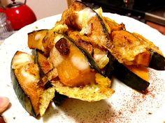 あいこ's dish photo カボチャのカリカリチーズ焼き | http://snapdish.co #SnapDish #レシピ #クリスマス #おやつ #ケーキ #簡単料理 #焼く/炒め物