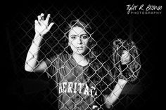 Haley Rodriguez - Heritage High School - Softball - Senior Portraits - @sadibrookemua - Senior Pictures - Ideas for Girls - Athletes - Class of 2015 - Dallas, Texas - Batting Cage - Cool - Tyler R. Brown Photography