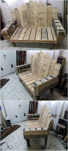 If your house is not being settled with the wood pallet stuff in it, then you are definitely giving your house with an unimpressive look by your own self. Wood pallet bench form of design is all here for you to help you at the best. Have a look at this design! Isn't it look magnificent stylish?