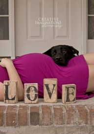 This made me smile and tear up thinking of being pregnant and taking this picture with my fur baby Lilly!