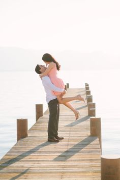 Sunset e-sesh: http://www.stylemepretty.com/little-black-book-blog/2014/12/24/dreamy-lake-tahoe-engagement-session/   Photography: This Love of Yours - http://thisloveofyours.com/
