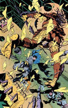 BATMAN VERSUS PREDATOR PIN UP (1991) By Steve Rude