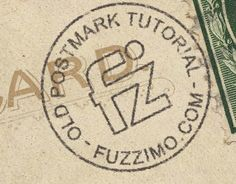 Photoshop Tutorial; How to make an Old Postmark Stamp by @fuzzimo