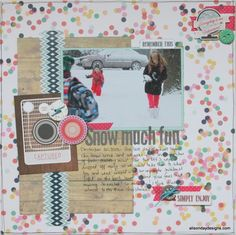 #Papercraft #scrapbook #layout.  Snow Much Fun - a layout for Practical Scrappers