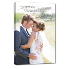1st or 2nd Wedding Anniversary coming up and don't know what to get...how about a personalized one of a kind canvas wall art.
