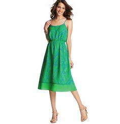 Pretty Fern  Featured in the Pretty Fern Post  Vivid Fern Print Tipped Mid Length Dress | Loft