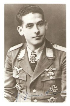 """Jacob Jenster (14 March 1917 – 10 March 2009) destroyed 100 tanks in 960 combat missions (360 of these were Panzerjagdeinsatze with the Ju 87). Since June 1942 he was   attached to 7./StG 1 on the eastern front, and in 1943 he was transferred to 6./StG 2 """"Immelmann"""" where he earned the Knight's Cross of the Iron Cross on 29 February   1944 while he was an Oberfeldwebel. On 10 July he was attached to 10.(Pz)/StG 2 until May 1945, when he was captured and held prisoner until September 1949."""