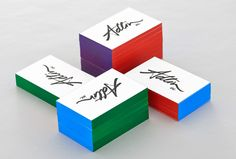 Adlin Inc. brand identity and edge painted business cards designed by Apartment One.