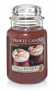 Yankee Candle Large Jar Candle, Vanilla Bourbon *** Click image for more details. (This is an affiliate link) Yankee Candles, Bougie Yankee Candle, Yankee Candle Scents, Soy Candles, Scented Candles, Candle Jars, Fragrant Candles, Candle Holders, Perfume Glamour