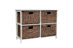 Loxley Brown Wash Wooden Storage Unit with 4 Rattan Basket Drawers Wovenhill Home Storage http://www.amazon.co.uk/dp/B00MQOTP5E/ref=cm_sw_r_pi_dp_lRDYwb010WNHC