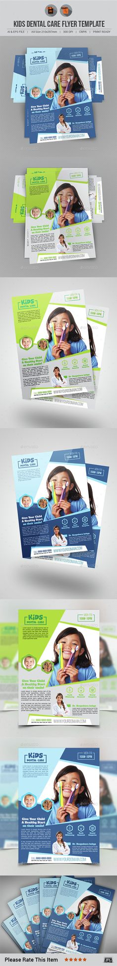 Kids Dental Care Flyer