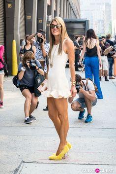 Anna Della Russo. What she's wearing: Celine pumps