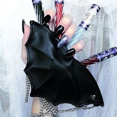 The lovely @deathcandy with our Alchemy Gothic Bat purse