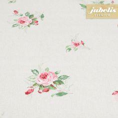 jubelis® Premium-Tischdecke PVC extradick Rosenmuster Jody rosa