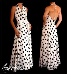 SYBELLA Full Length Flared Wrap Around Dress by AnelBrink on Etsy, $127.00