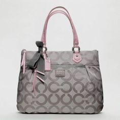 Coach purse... Grey & Light Pink