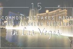 15 Mistakes to Avoid When Planning a Las Vegas Wedding | Via Little Vegas Wedding