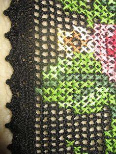 Irish crochet &: FILET DRESS + EMBROIDERY