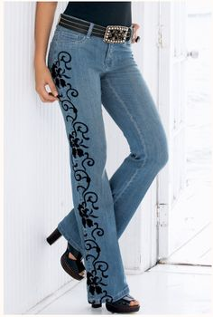 I love these jeans. Wish they were still available.